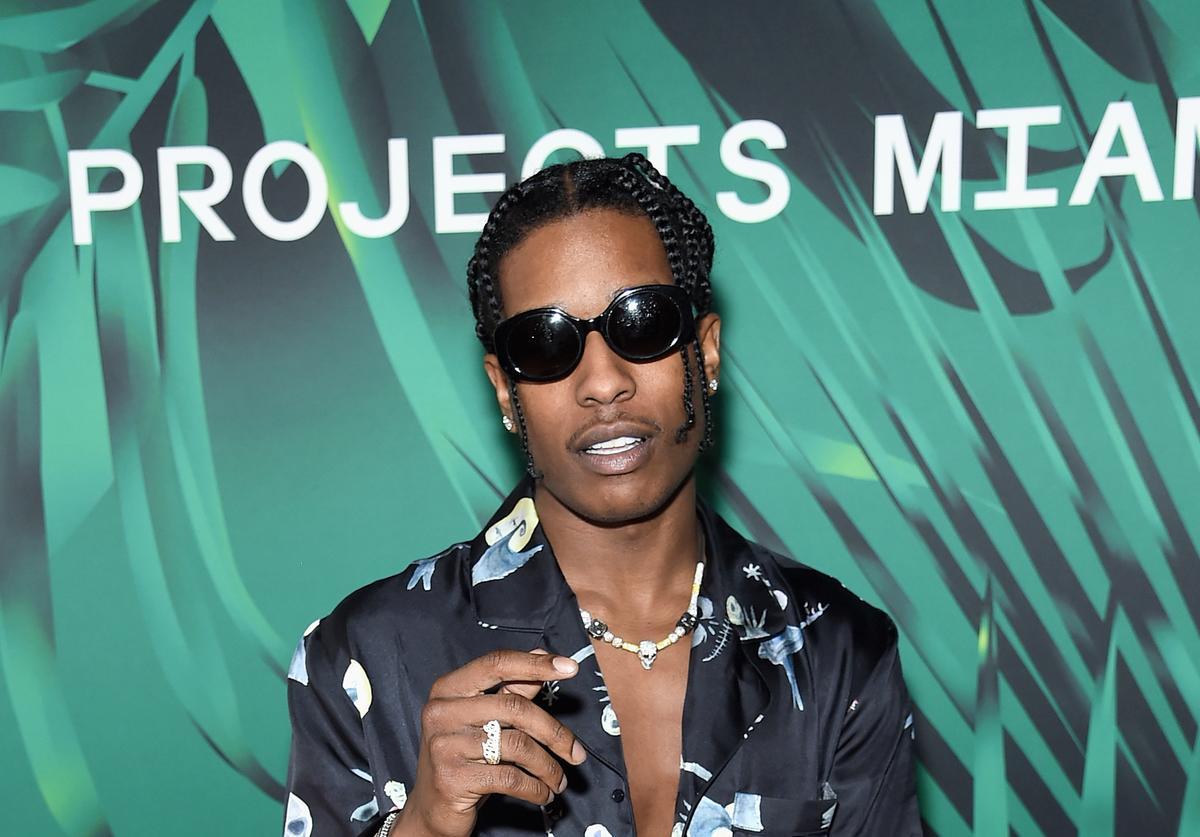 ASAP Rocky looking swaggy