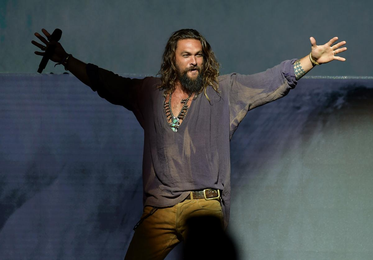 "Jason Momoa as ""Aquaman"""