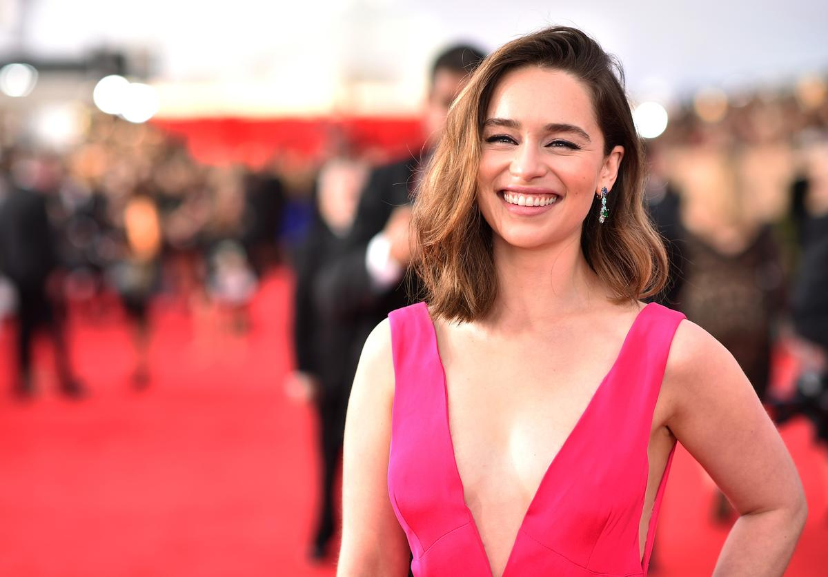 Actress Emilia Clarke attends The 22nd Annual Screen Actors Guild Awards