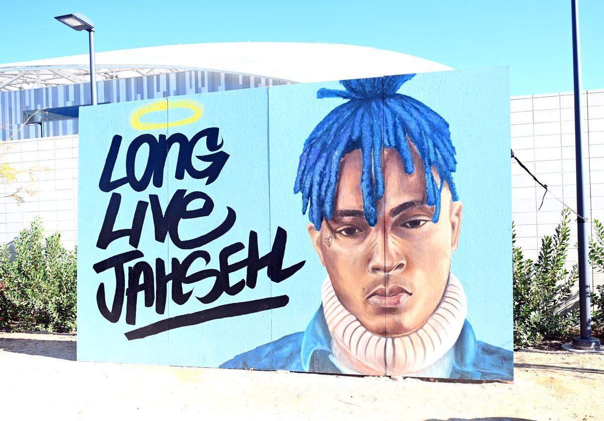 A view of a tribute to slain rapper XXXtentacion during day 2 of Rolling Loud Festival at Banc of California Stadium on December 15, 2018 in Los Angeles, California.