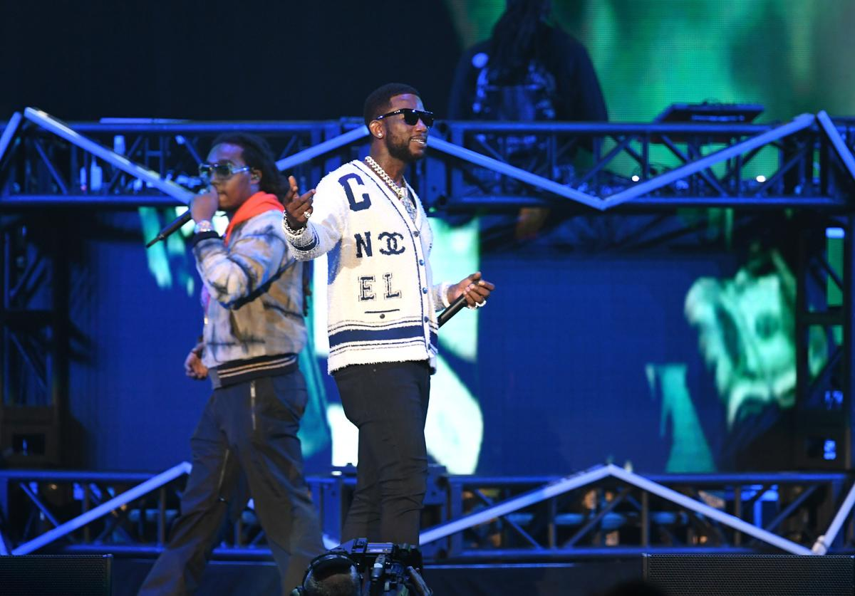 Takeoff of Migos and Gucci Mane perform onstage during Bud Light Super Bowl Music Fest / EA SPORTS BOWL at State Farm Arena on January 31, 2019 in Atlanta, Georgia.