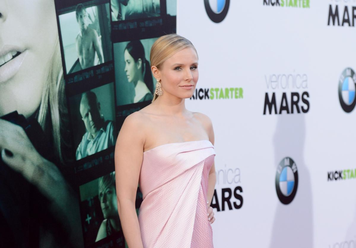 """Actress Kristen Bell arrives at the Los Angeles premiere of """"Veronica Mars"""