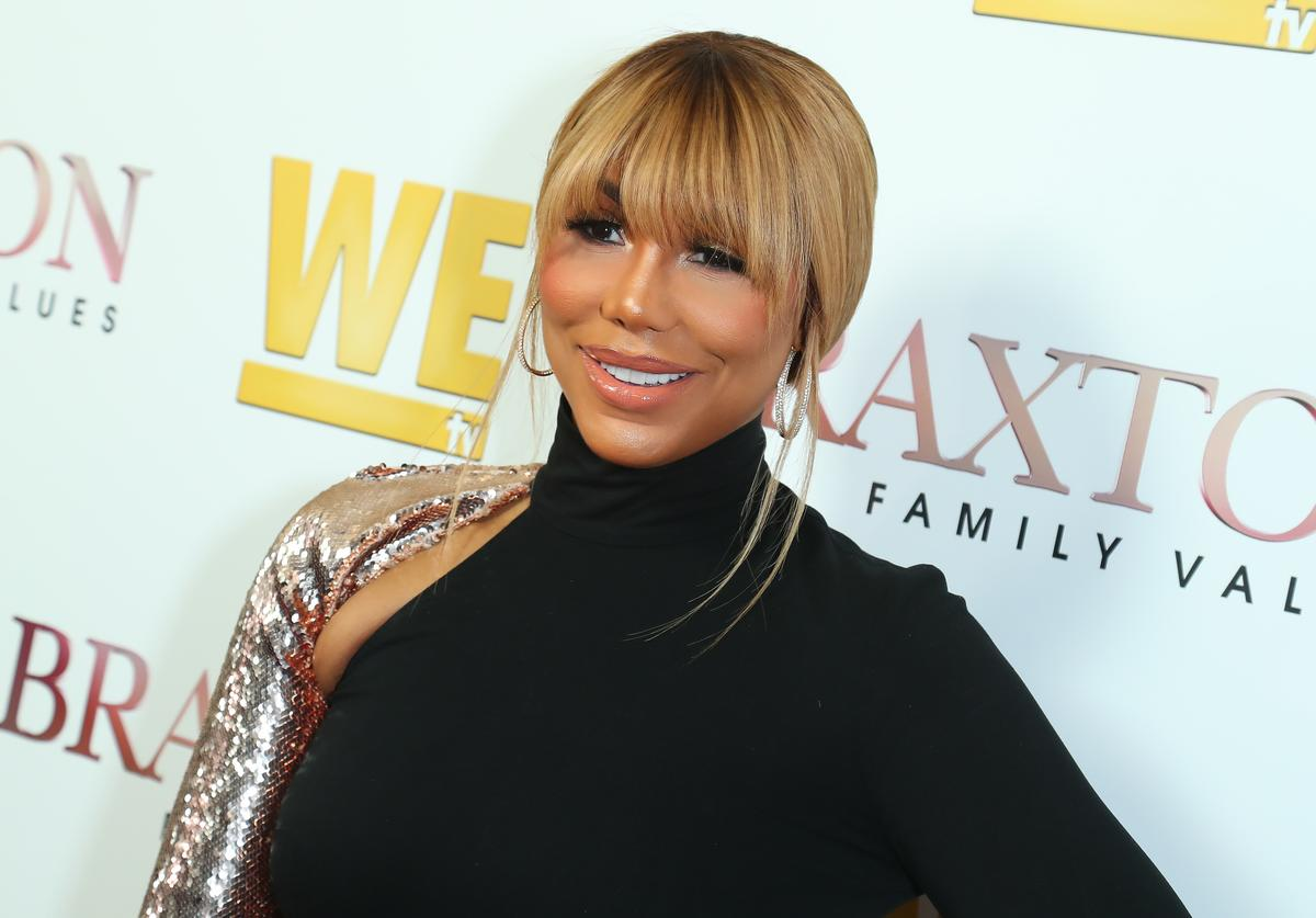 """Tamar Braxton attends WE tv's """"Braxton Family Values"""" Season 6 Premiere at The Doheny Room on April 02, 2019 in West Hollywood, California"""