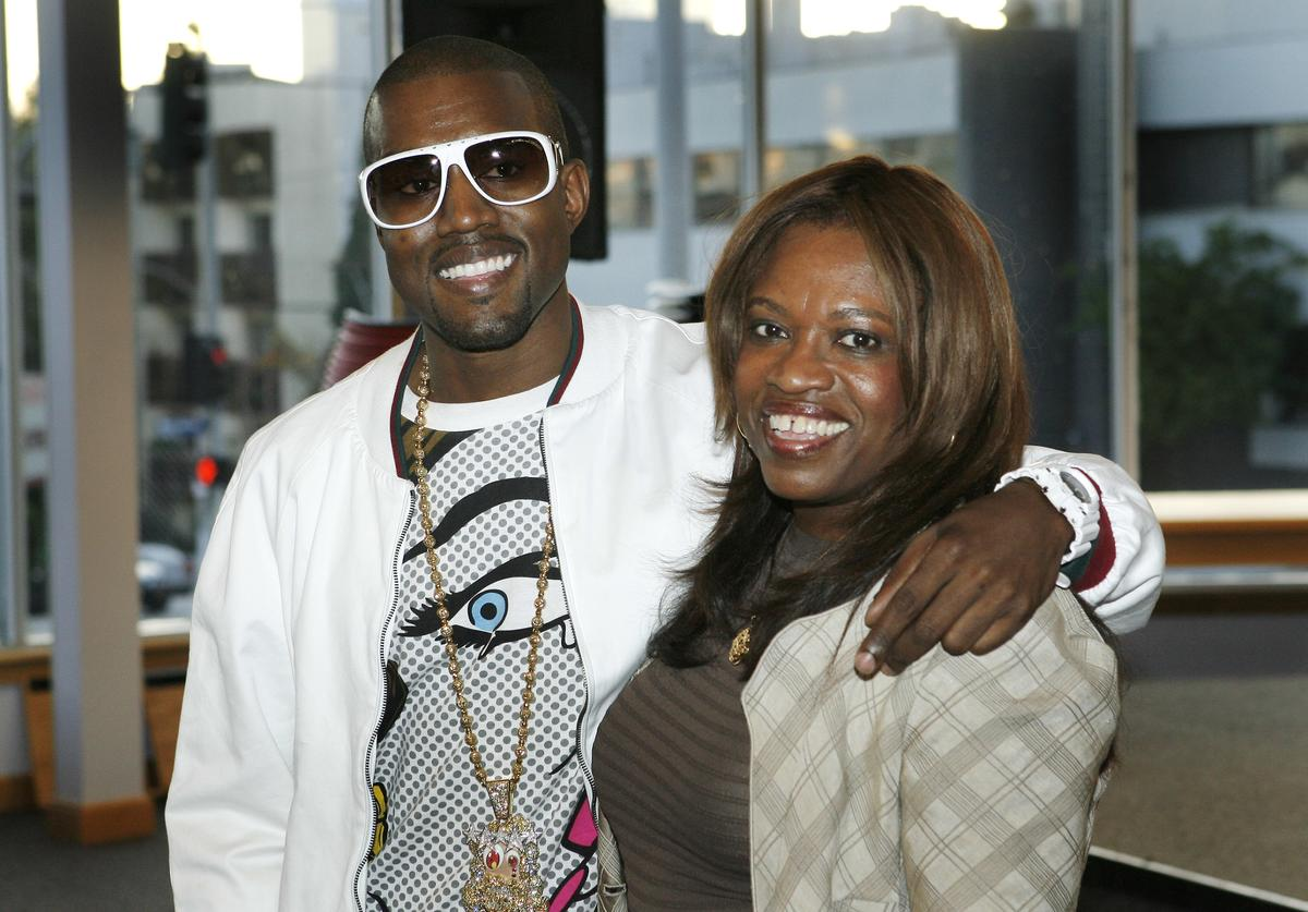 "Author Donda West (R) and her son, hip-hop performer Kanye West atend a book signing for her book ""Raising Kanye: Life Lessons from the Mother of a Hip-Hop Superstar"" on May 9, 2007 at Borders in Los Angeles, California."