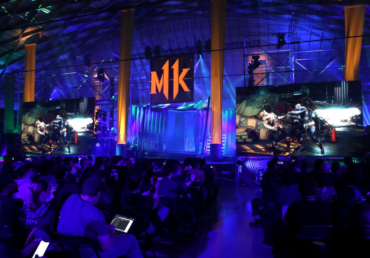View of atmosphere at Mortal Kombat 11: The Reveal on January 17, 2019