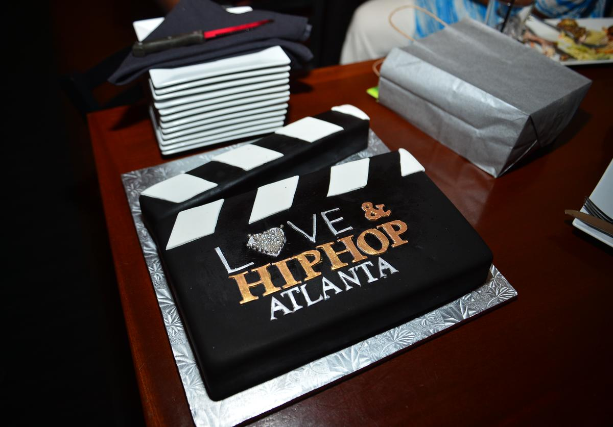 """ake Presented to the cast) at the VH1 """"Love and Hip Hop Atlanta"""" premiere party"""