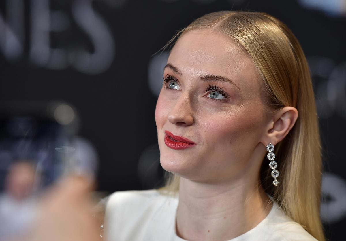 "Sophie Turner attends the ""Game of Thrones"" Season 8 screening at the Waterfront Hall"
