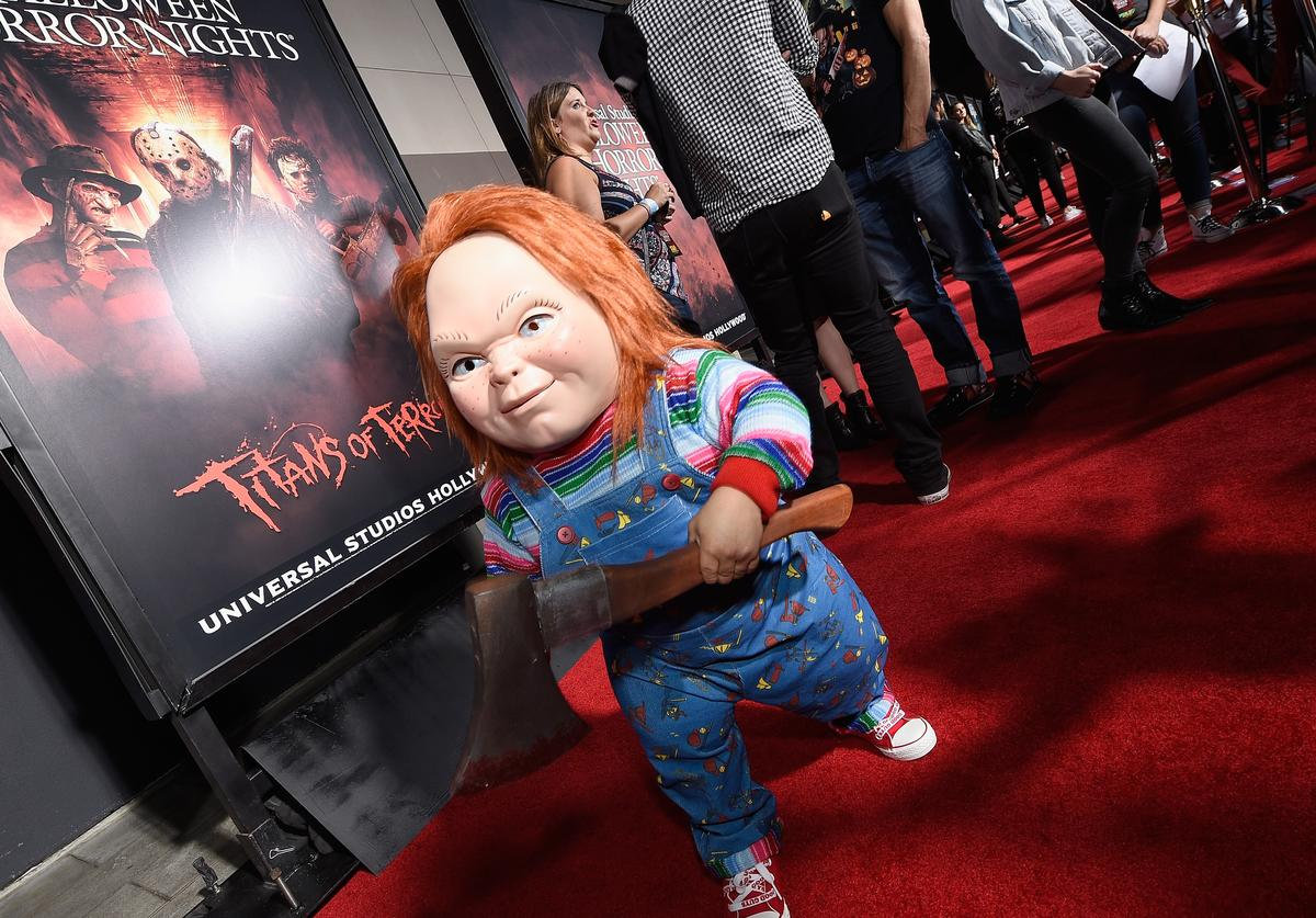 Chucky attends Halloween Horror Nights Opening Night Red Carpet at Universal Studios Hollywood on September 15, 2017 in Universal City, California.