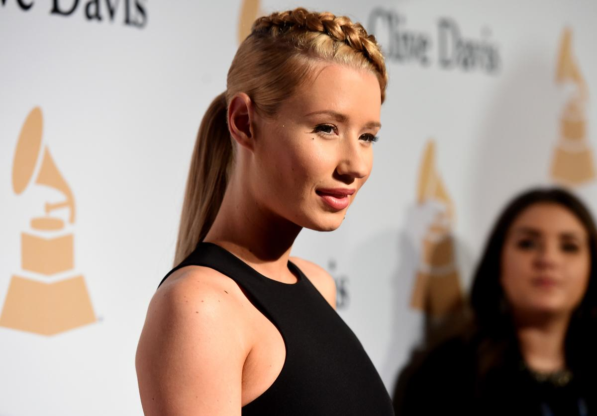 Iggy Azalea attends the Pre-GRAMMY Gala and Salute to Industry Icons honoring Martin Bandier at The Beverly Hilton Hotel on February 7, 2015 in Los Angeles, California
