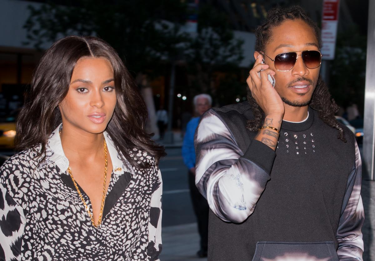 Ciara (L) and Future seen on the streets of Manhattan on August 14, 2013 in New York City