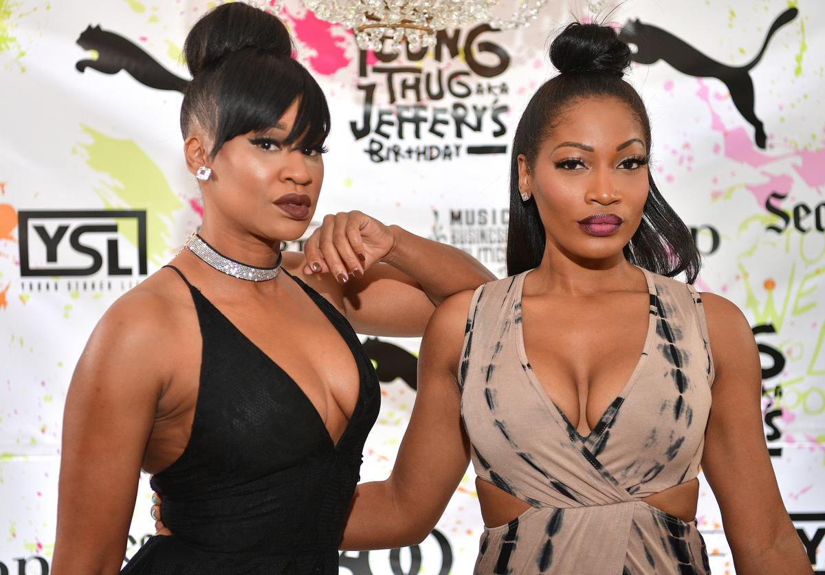 Traci Steele and Erica Dixon attend Young Thugs 25th Birthday