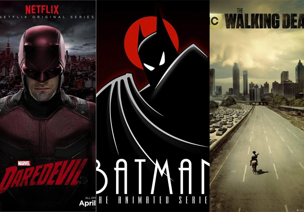 """Official posters for """"Daredevil,"""" """"Batman"""" and """"The Walking Dead"""""""