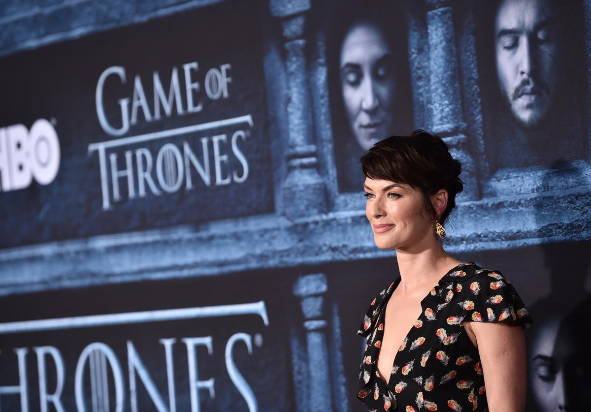 "Actress Lena Headey attends the premiere of HBO's ""Game Of Thrones"" Season 6"