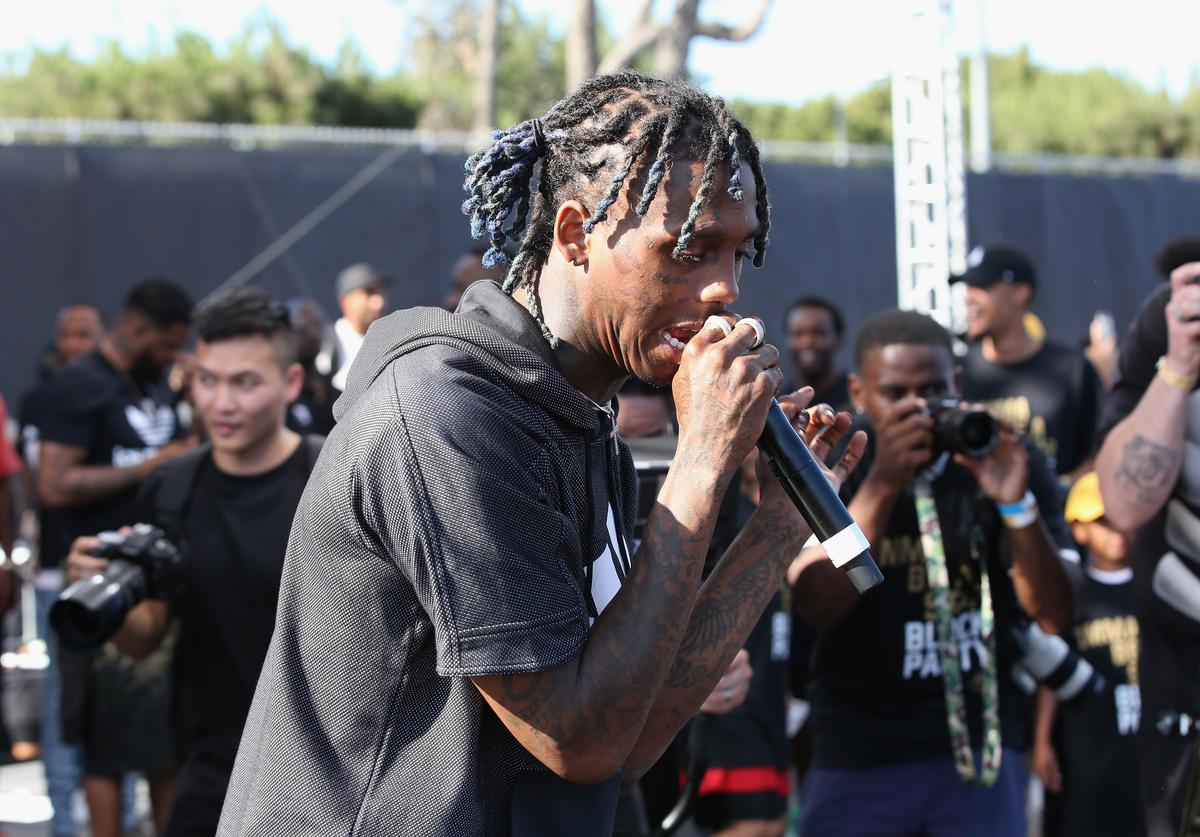 "Famous Dex performs onstage at ""Imma Be a Star"" Block Party at Audubon Middle School on June 24, 2018 in Los Angeles, California."