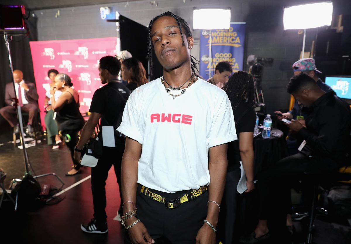 A$AP Rocky backstage at the 2017 BET Awards