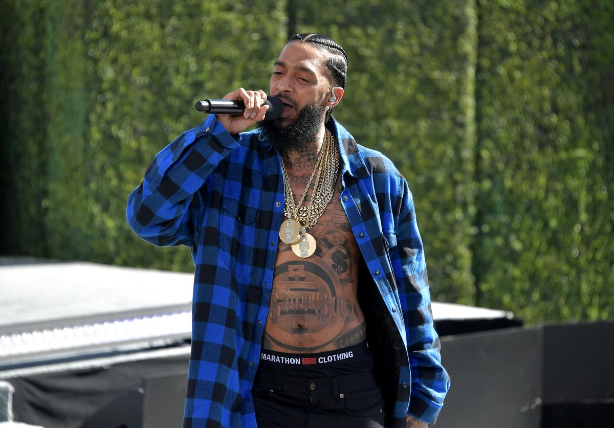 Nipsey Hussle performs onstage at Live! Red! Ready! Pre-Show, sponsored by Nissan, at the 2018 BET Awards at Microsoft Theater on June 24, 2018 in Los Angeles, California