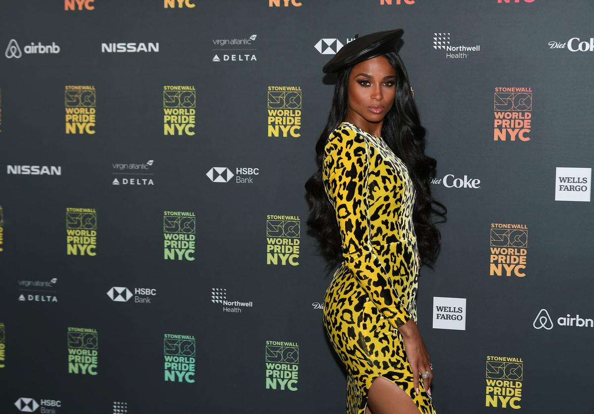 Ciara Attends the WorldPride NYC 2019 Opening Ceremony at Barclays Center on June 26, 2019 in New York City