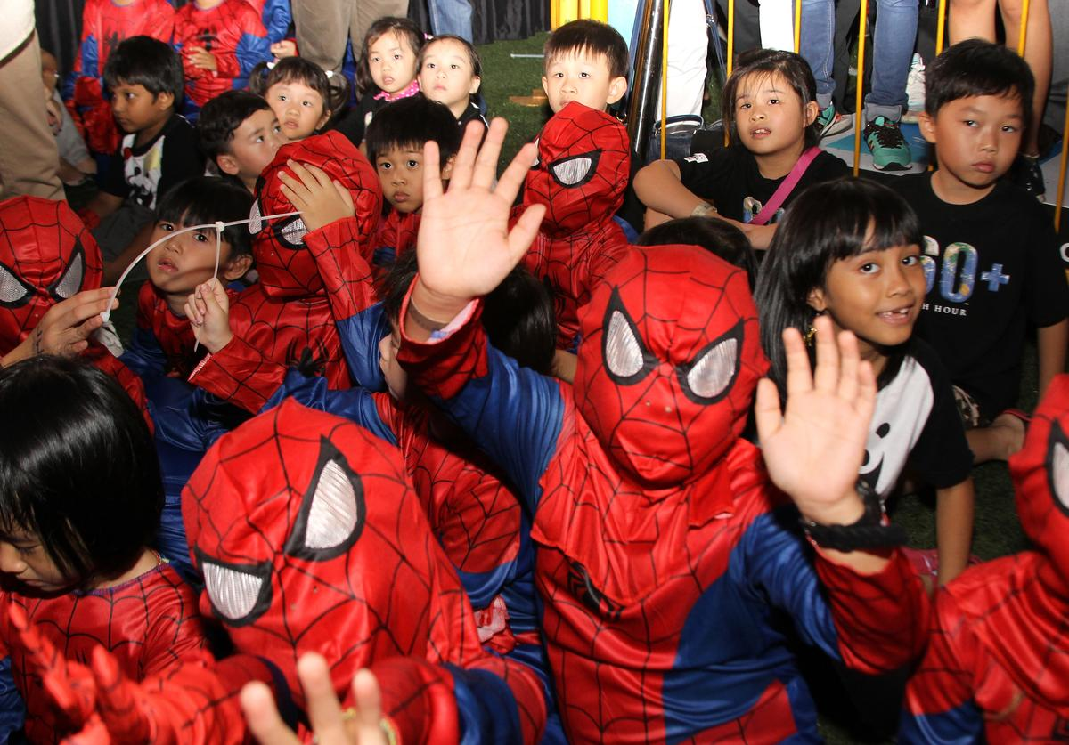 A general view of the Earth Hour Kick-Off with Spider-Man, The First Super Hero Ambassador for Earth Hour