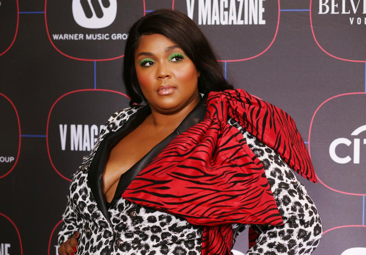 Lizzo attends the Warner Music Pre-Grammy Party at the NoMad Hotel on February 7, 2019 in Los Angeles, California