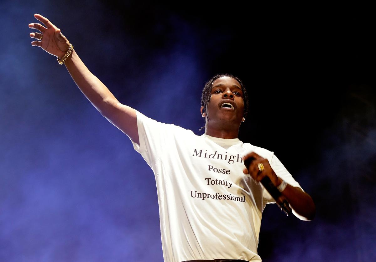 ASAP Rocky performs onstage during day 1 of the 2016 Coachella Valley Music & Arts Festival Weekend 2 at the Empire Polo Club on April 22, 2016 in Indio, California
