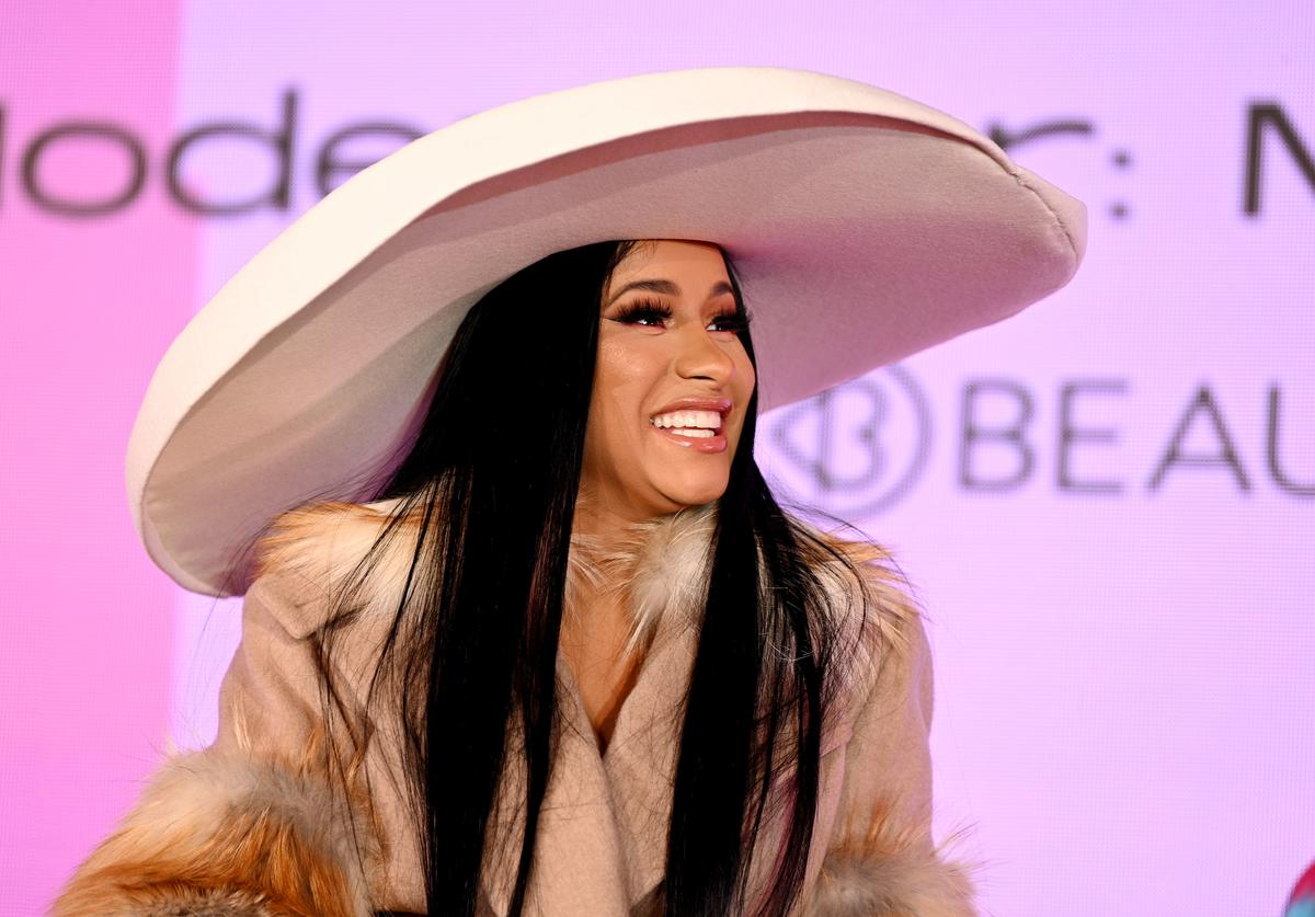 Cardi B speaks onstage at Beautycon Festival New York 2019 at Jacob Javits Center on April 07, 2019 in New York City