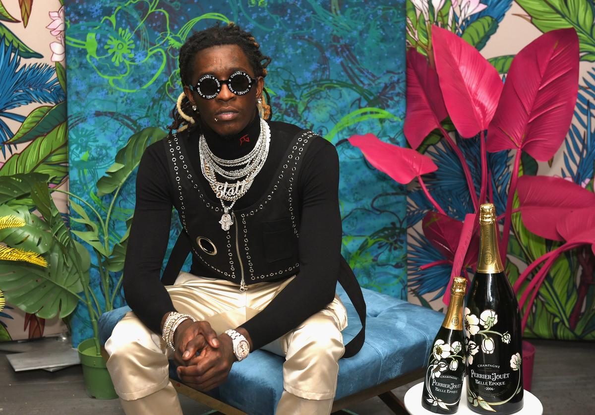 Rapper Young Thug attends L'Eden by Perrier-Jouët on December 6, 2018 in Miami Beach, Florida