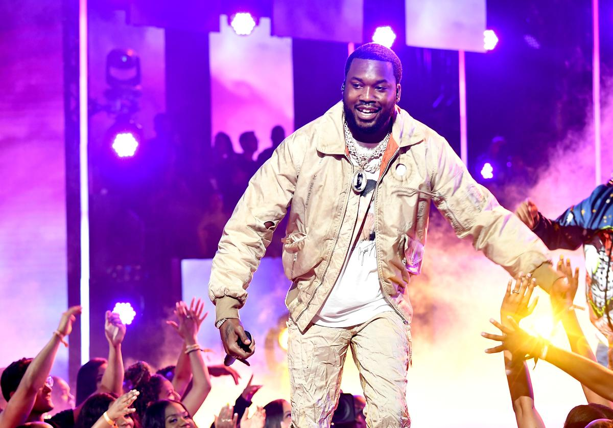 Meek Mill and DJ Khaled perform onstage at the 2019 BET Awards at Microsoft Theater on June 23, 2019 in Los Angeles, California