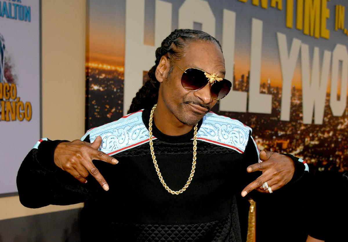 """Snoop Dogg arrives at the premiere of Sony Pictures' """"One Upon A Time...In Hollywood"""" at the Chinese Theatre on July 22, 2019 in Hollywood, California"""