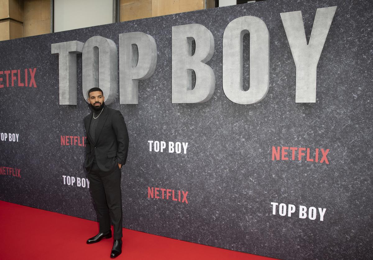 """Drake attends the """"Top Boy"""" UK Premiere at Hackney Picturehouse on September 04, 2019 in London, England"""