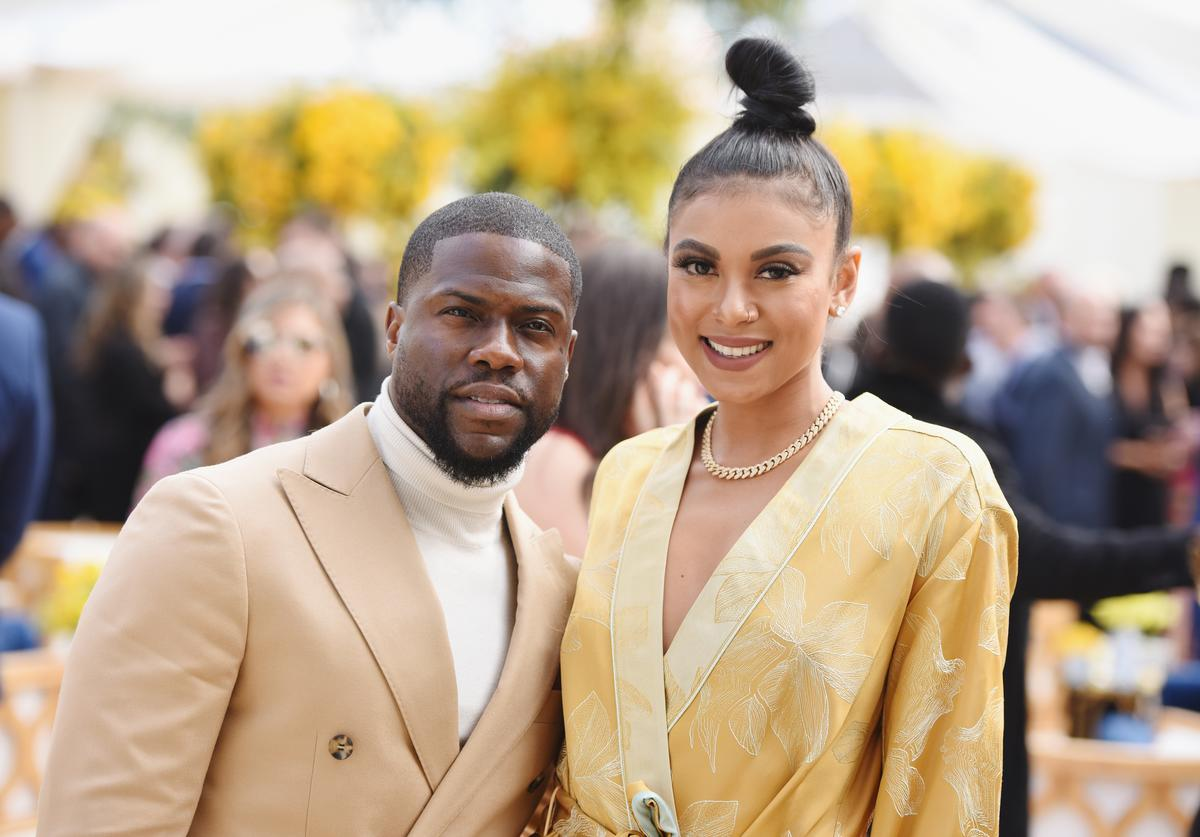 Kevin Hart and Eniko Parrish attend 2019 Roc Nation THE BRUNCH on February 9, 2019 in Los Angeles, California