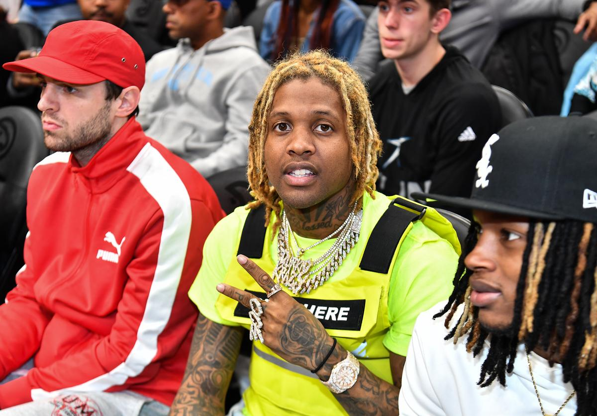 Rapper Lil Durk attends the 42nd Annual McDonald's All American Games at State Farm Arena on March 27, 2019 in Atlanta, Georgia.