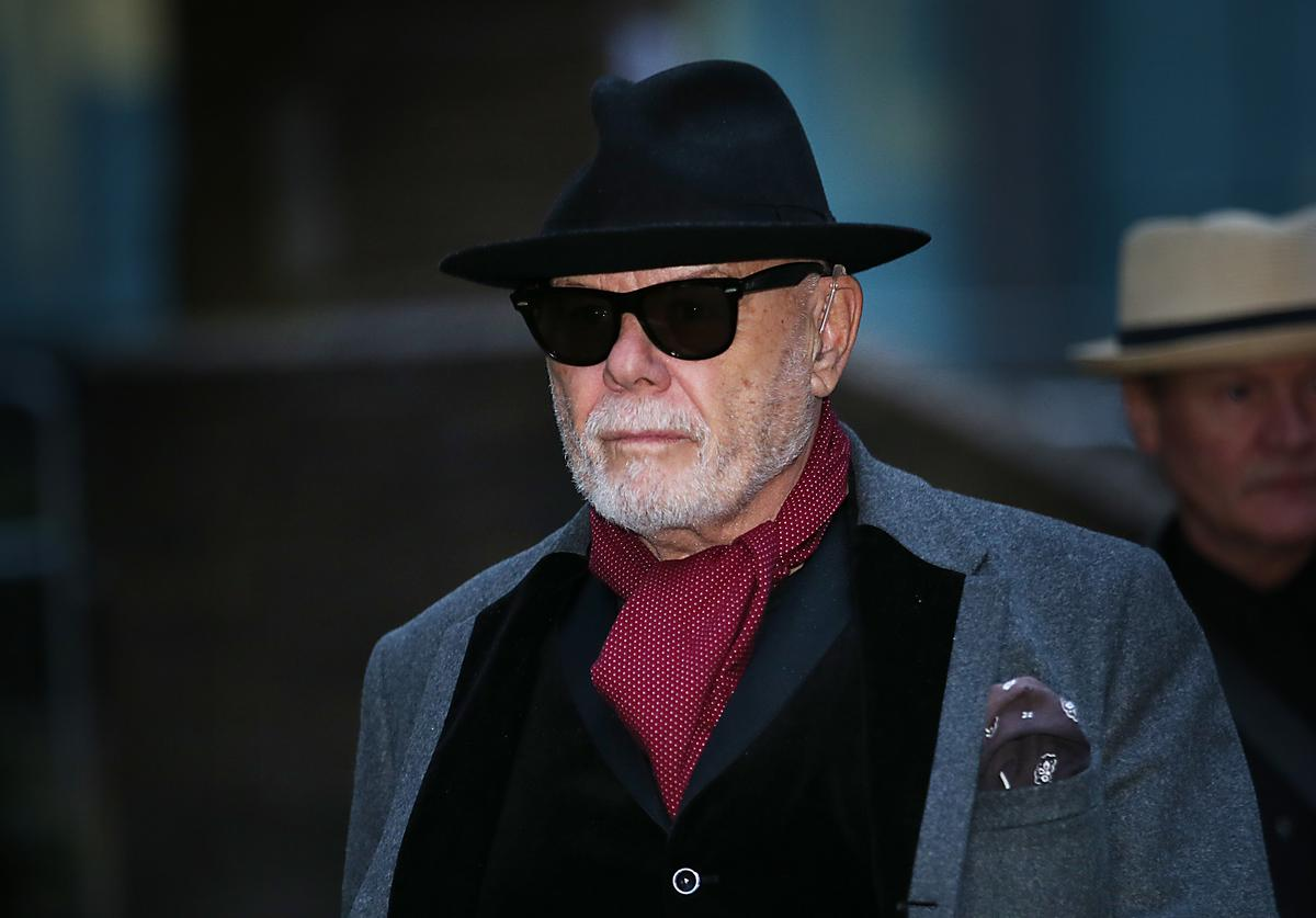Gary Glitter, real name Paul Gadd, leaves Southwark Crown Court after the jury retired to consider their verdict on February 4, 2015 in London, England.