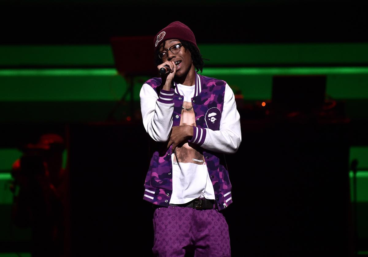 Lil Tecca performs during the TIDAL's 5th Annual TIDAL X Benefit Concert TIDAL X Rock The Vote At Barclays Center - Show at Barclays Center of Brooklyn on October 21, 2019 in New York City
