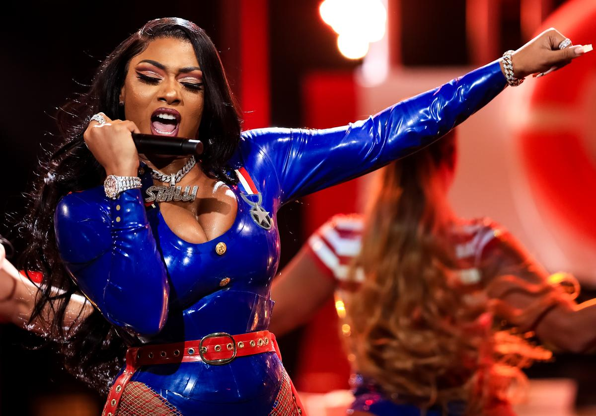 Megan Thee Stallion performs onstage at the BET Hip Hop Awards 2019 at Cobb Energy Center on October 05, 2019 in Atlanta, Georgia