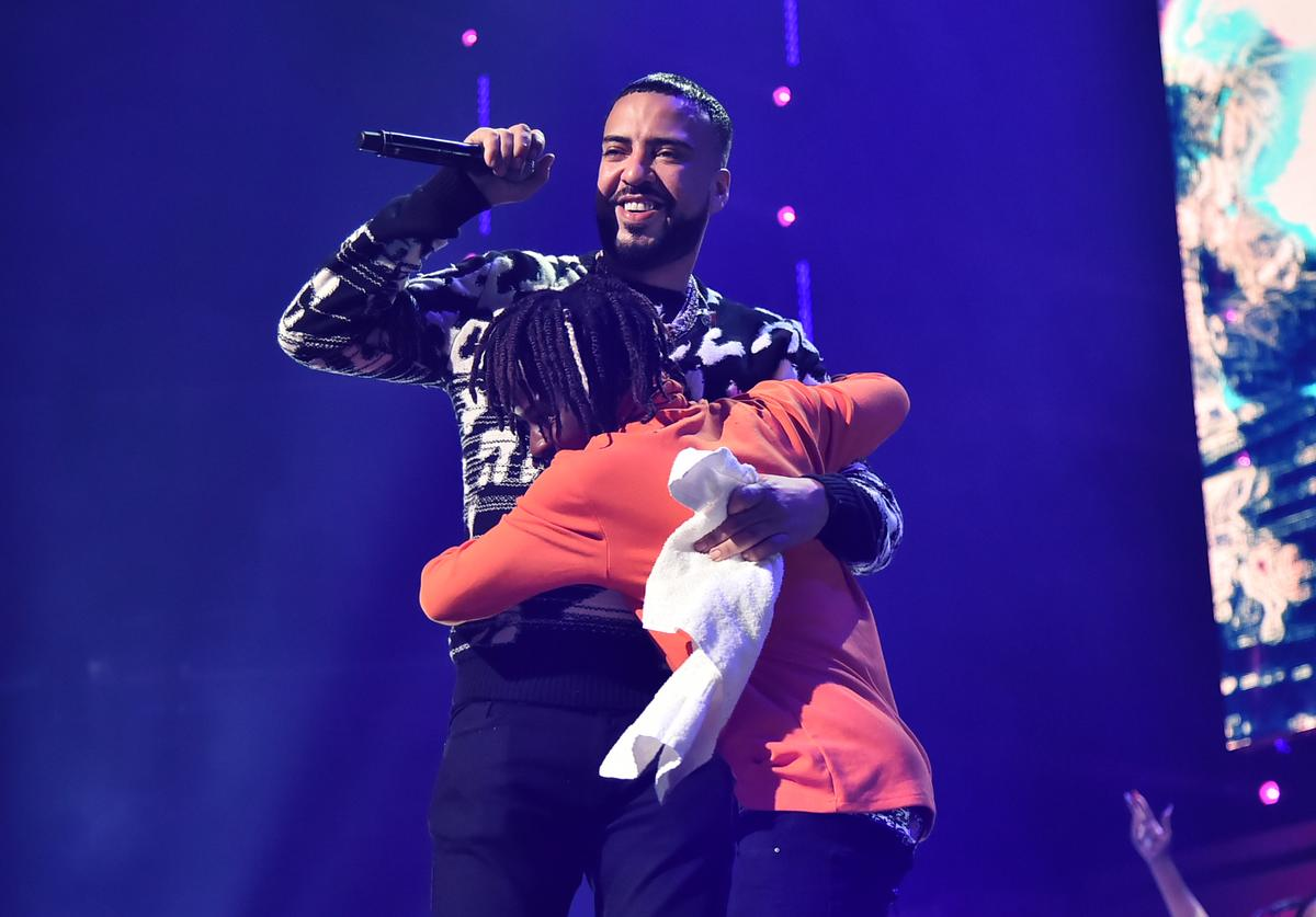 French Montana performs during the TIDAL's 5th Annual TIDAL X Benefit Concert TIDAL X Rock The Vote At Barclays Center - Show at Barclays Center of Brooklyn on October 21, 2019 in New York City