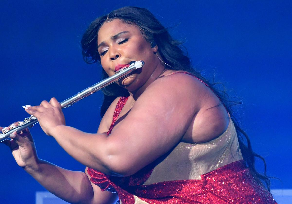 Lizzo performs onstage during 93.3 FLZ's Jingle Ball 2019 Presented by Capital One at Amalie Arena on December 01, 2019 in Tampa, Florida