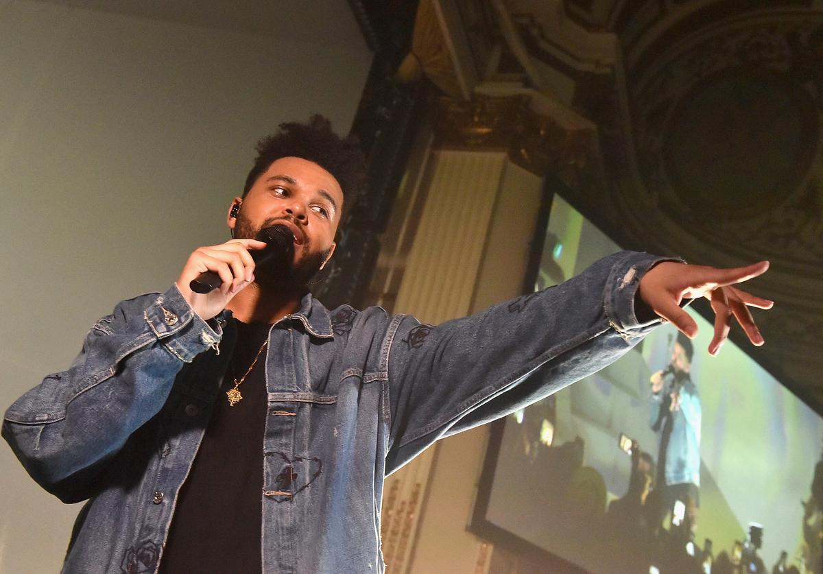 """The Weeknd performs onstage during Harper's BAZAAR Celebration of """"ICONS By Carine Roitfeld"""" at The Plaza Hotel presented by Infor, Laura Mercier, Stella Artois, FUJIFILM and SWAROVSKI on September 8, 2017 in New York City."""