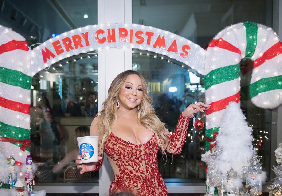 Global icon Mariah Carey announces Mariah Carey Christmas Factory during the grand opening Of Sugar Factory American Brasserie on September 6, 2017 in Bellevue, Washington.