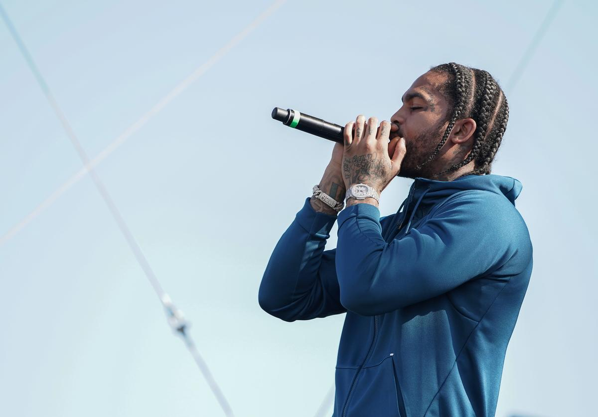 "Dave East performs onstage during Pepsi x ESSENCE ""She Got Now"" at Howard University Homecoming on October 11, 2019 in Washington, DC"
