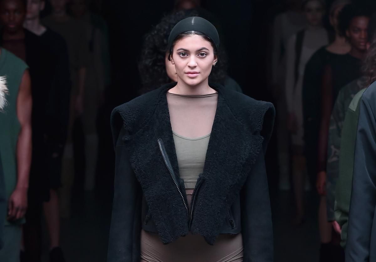 Kylie Jenner on the runway for adidas Originals x Kanye West YEEZY SEASON 1