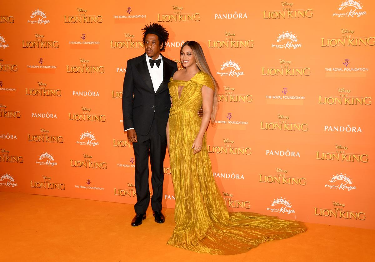 "Jay-Z & Beyoncé at ""The Lion King"" premiere"