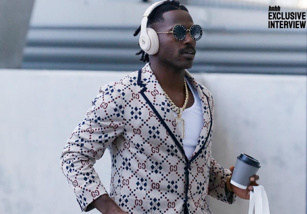 Antonio Brown wearing Gucci