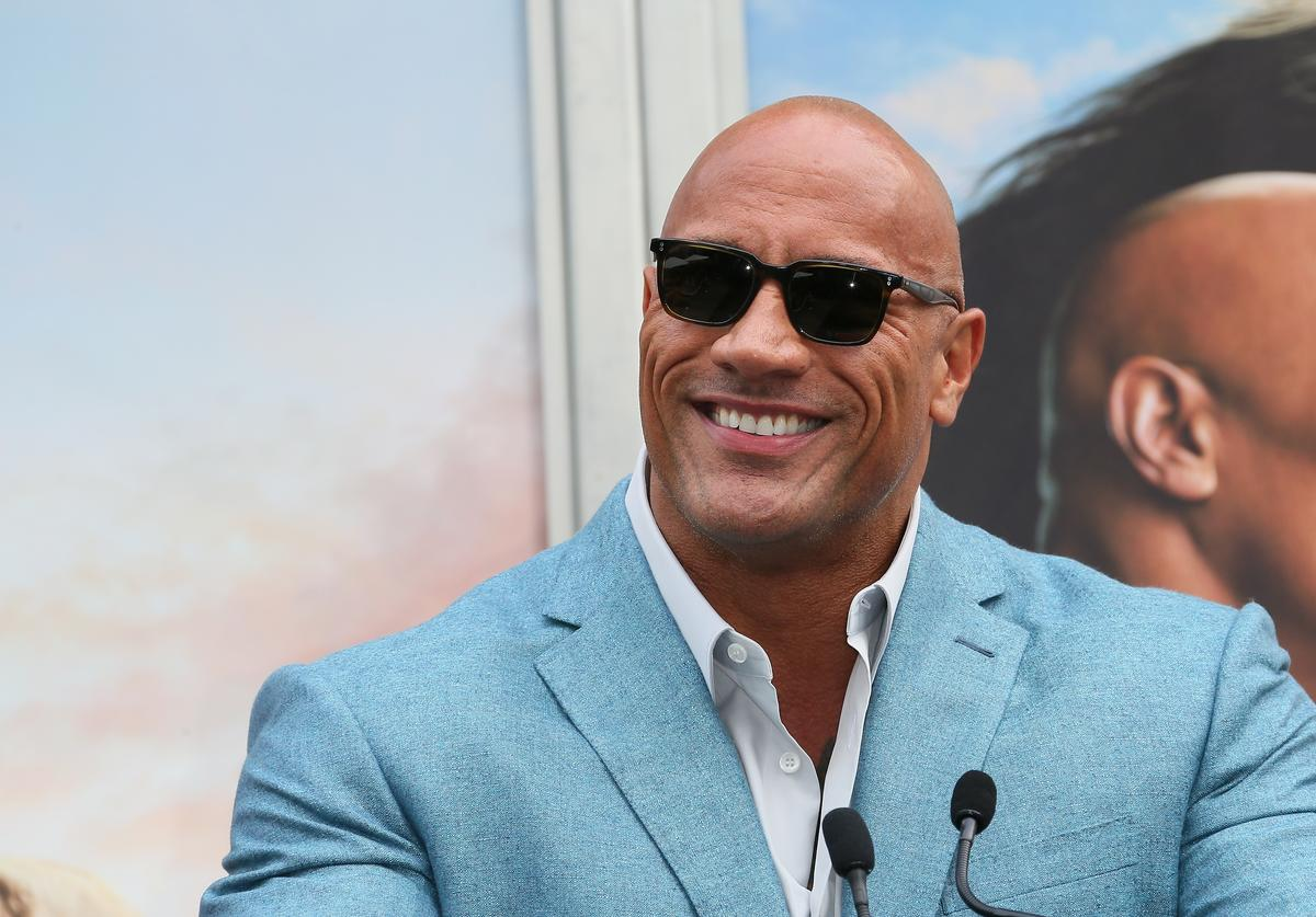 """Dwayne """"The Rock"""" Johnson Hand and Footprint x Kevin Hart ceremony (Dec. 2019)"""