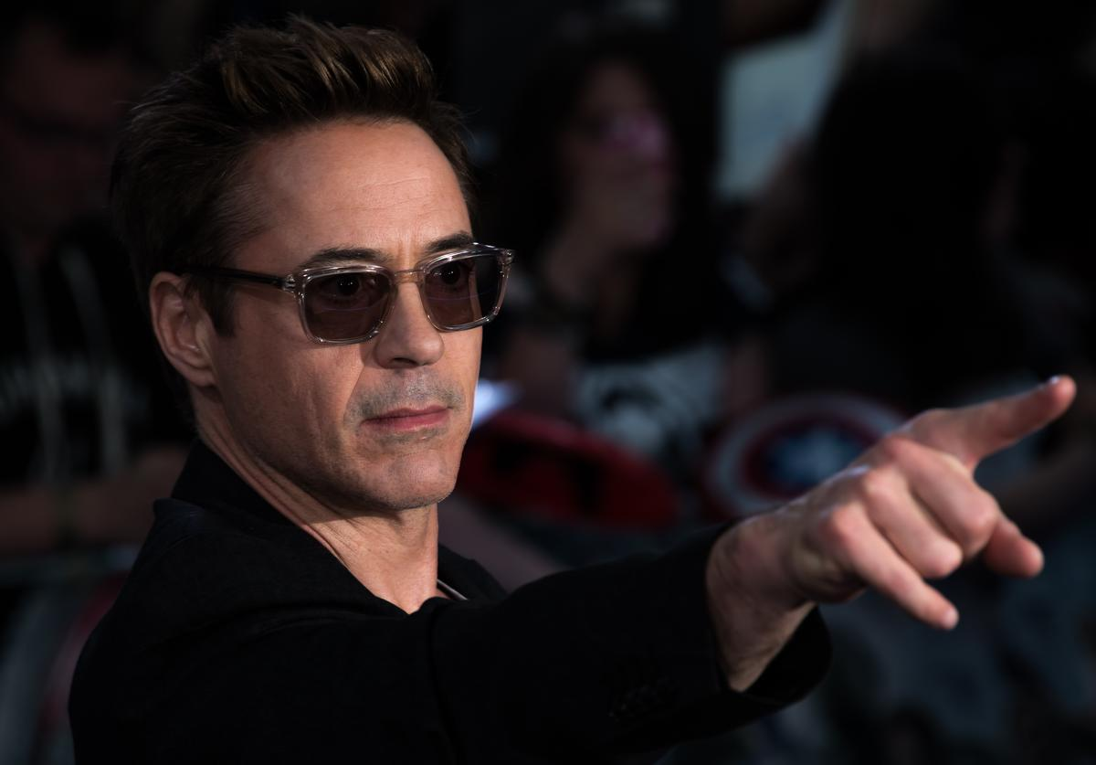 """Robert Downey Jr. at  European premiere of """"The Avengers: Age Of Ultron"""" (April 2015)"""