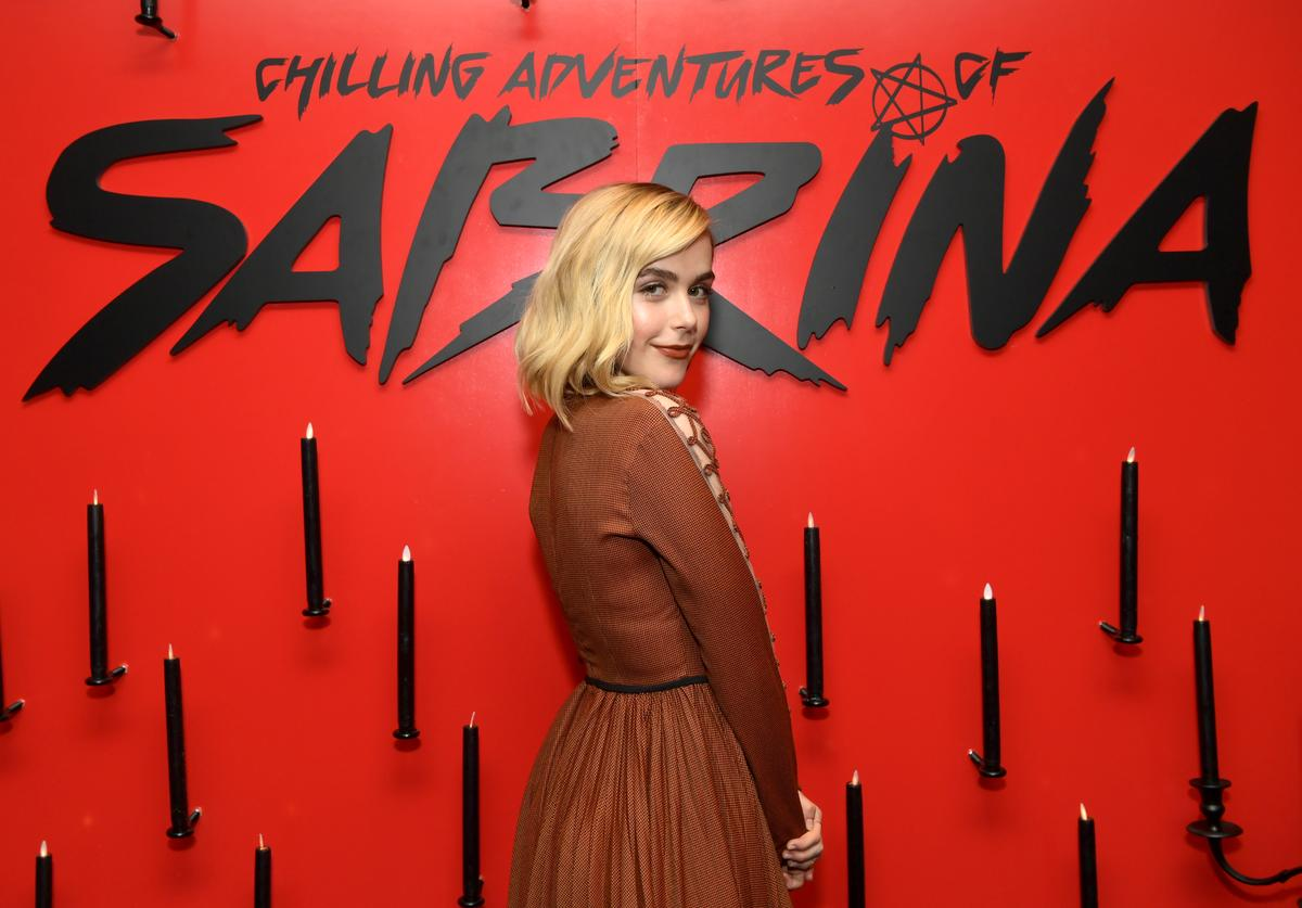 "Kiernan Shipka attends Netflix's ""The Chilling Adventures of Sabrina"" Q&A and Reception at the Pacific Design Center on March 17, 2019 in West Hollywood, California."