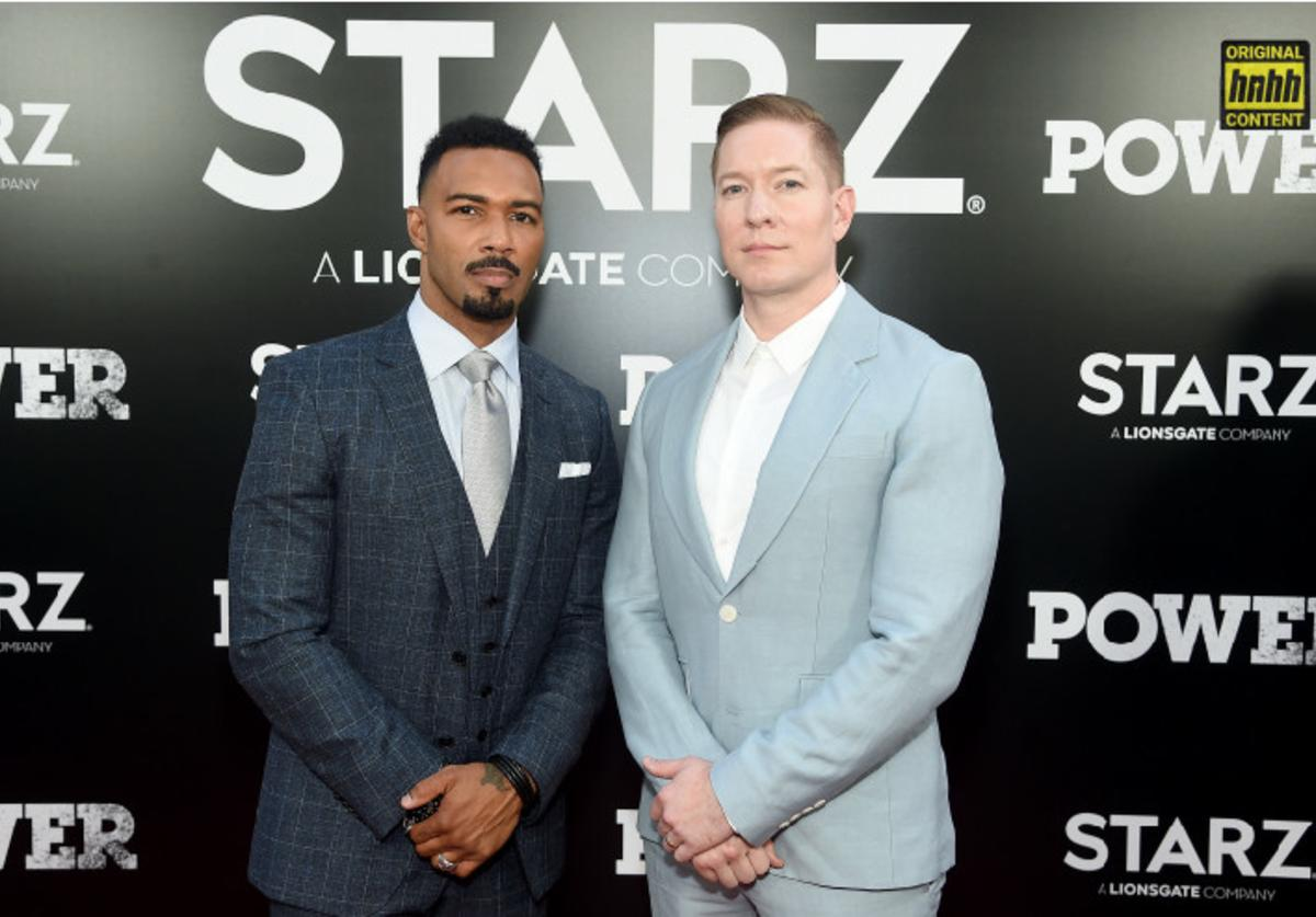 """Omari Hardwick and Joseph Sikora attend the Starz """"Power"""" The Fifth Season NYC Red Carpet Premiere Event & After Party on June 28, 2018 in New York City."""