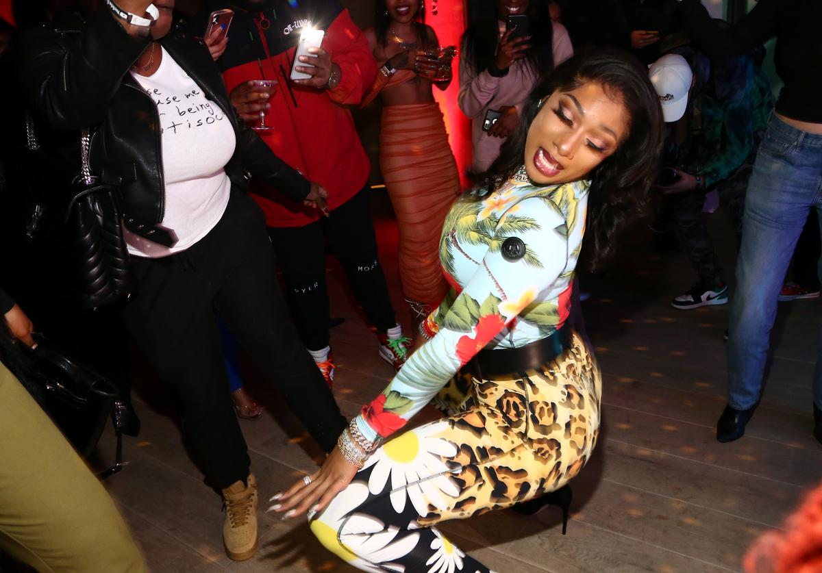 Megan Thee Stallion at A Celebration of The Fearless Women in Music in LA