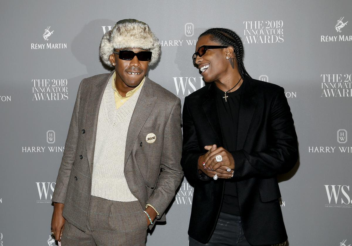 Tyler, The Creator and A$AP Rocky attend the WSJ. Magazine 2019 Innovator Awards