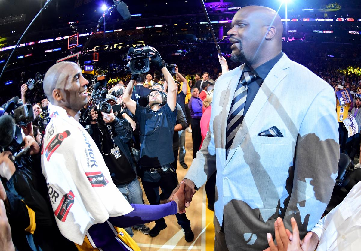 Kobe Bryant & Shaquille O'Neal (April 2016)