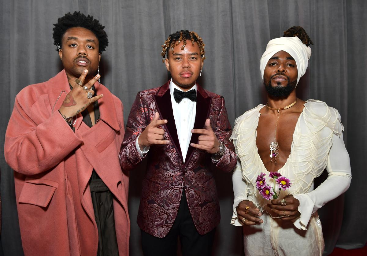 EARTHGANG & YBN Cordae at Grammys Red Carpet
